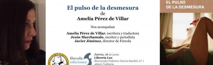 Presentación de Amelia Pérez de Villar en Valencia