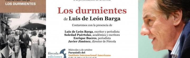 Presentación de Los durmientes de Luis de León Barga