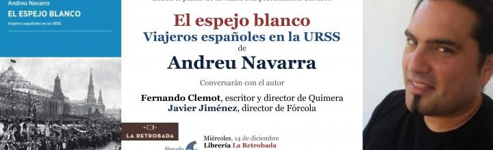 Presentación de El espejo blanco en Barcelona