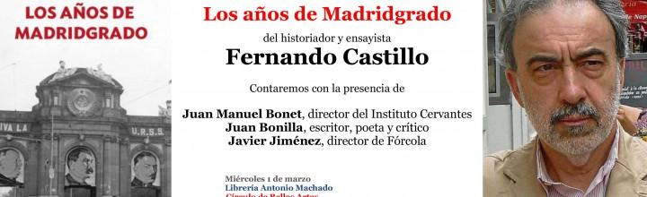 Presentación de Los años de Madridgrado, en Madrid