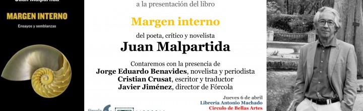 Presentación del nuevo libro de Juan Malpartida