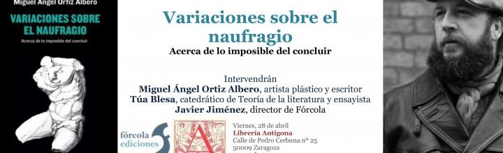 Presentación de Miguel Ángel Ortiz Albero en Zaragoza