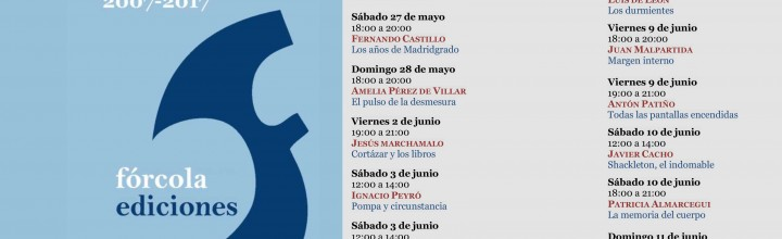Calendario de firmas de Fórcola en la Feria del Libro de Madrid. Caseta 210