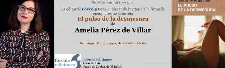 Amelia Pérez de Villar firmará ejemplares de sus libros en #FLM17