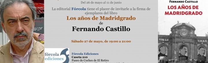 Fernando Castillo firmará ejemplares de sus libros en la #FLM17
