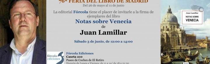Juan Lamillar en la Feria del Libro de Madrid