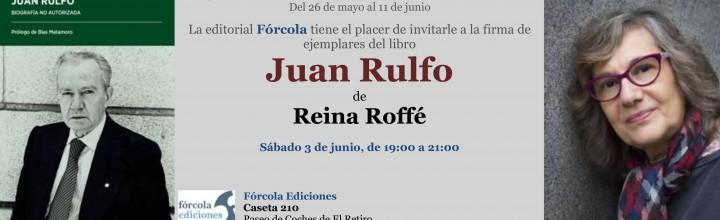 Reina Roffé en la Feria del Libro de Madrid