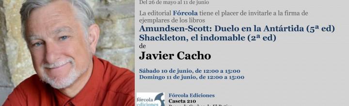 Javier Cacho firma en la FLM