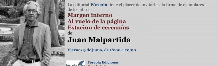 Juan Malpartida firma sus libros en la FLM