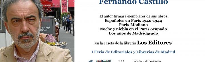 Fernando Castillo: Firma de ejemplares en Plaza Mayor de Madrid