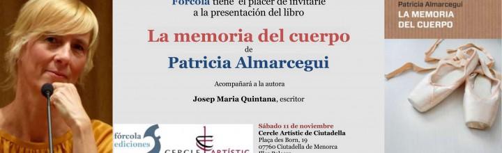 Patricia Almarcegui presenta La memoria del cuerpo en Ciudadela
