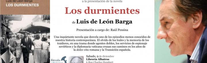 Presentación de Luis de León Barga en librería Albatros de Ginebra