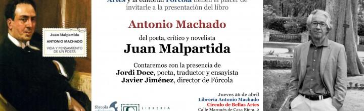 Juan Malpartida presenta su libro sobre Antonio Machado