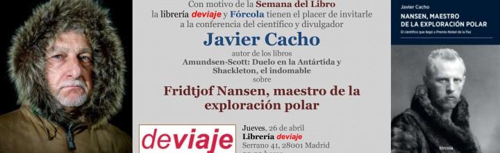 Javier Cacho presenta Nansen en librería Deviaje (Madrid)