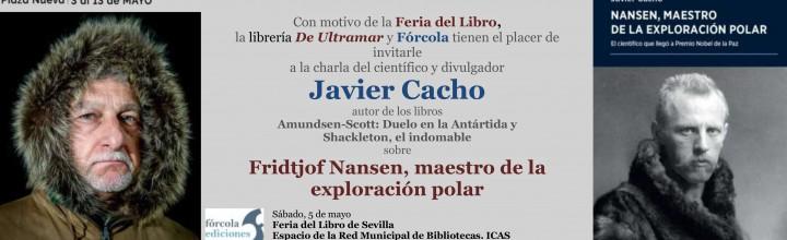 Conferencia de Javier Cacho en la Feria Libro Sevilla