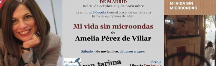Firma de Amelia Pérez de Villar en la Plaza Mayor