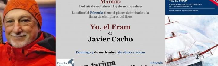 Firma de Javier Cacho en la Plaza Mayor