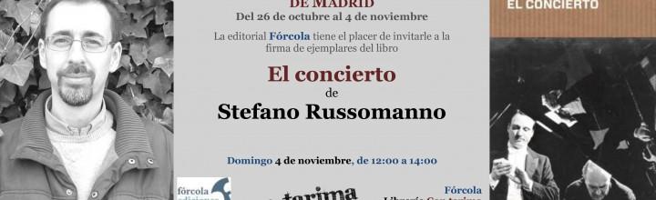 Firma de Stefano Russomanno en la Plaza Mayor