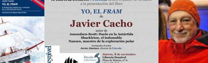 Javier Cacho en la librería Desnivel