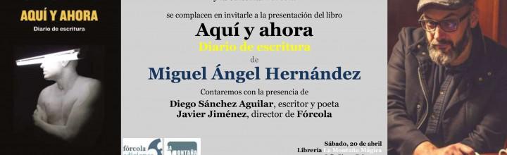 Miguel Ángel Hernández presenta su nuevo diario en Cartagena