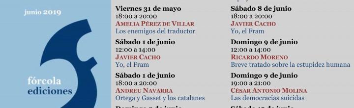 Calendario de Firmas de Fórcola (caseta 308) en la feria del Libro de Madrid