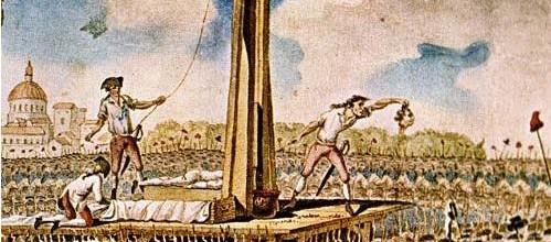 La guillotina de la estupidez