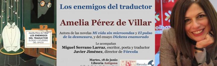 Presentación de Amelia Pérez de Villar en Zaragoza
