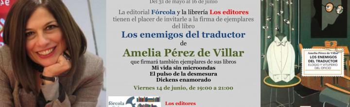 Amelia Pérez de Villar firma en la #FLM19 (caseta 127)