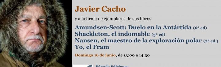 Javier Cacho firma en la #FLM19 (caseta 308)