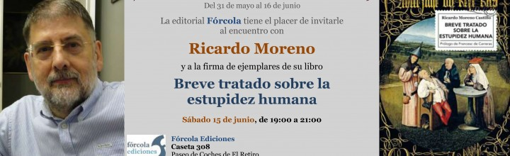Ricardo Moreno firma en la #FLM19 (caseta 308)