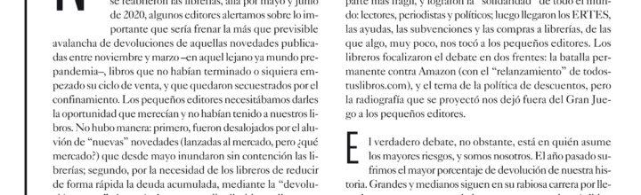 EL LIMBO POSTPANDEMIA DEL PEQUEÑO EDITOR