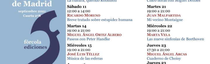 Fórcola en la Feria del Libro de Madrid